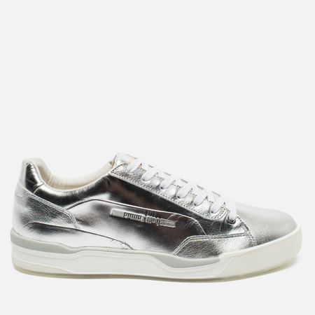 Мужские кроссовки Puma x Alexander McQueen Move Lo Lace Up Metallic Silver