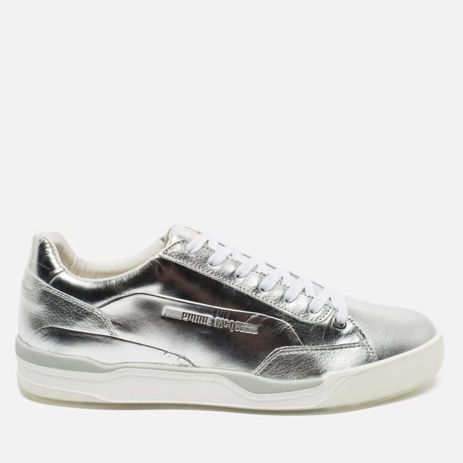 Мужские кроссовки Puma x Alexander McQueen Move Lo Lace Up Metallic Silver