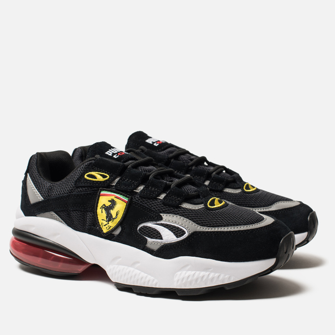 Мужские кроссовки Puma x Scuderia Ferrari Cell Venom Black/White/Rosso Corsa