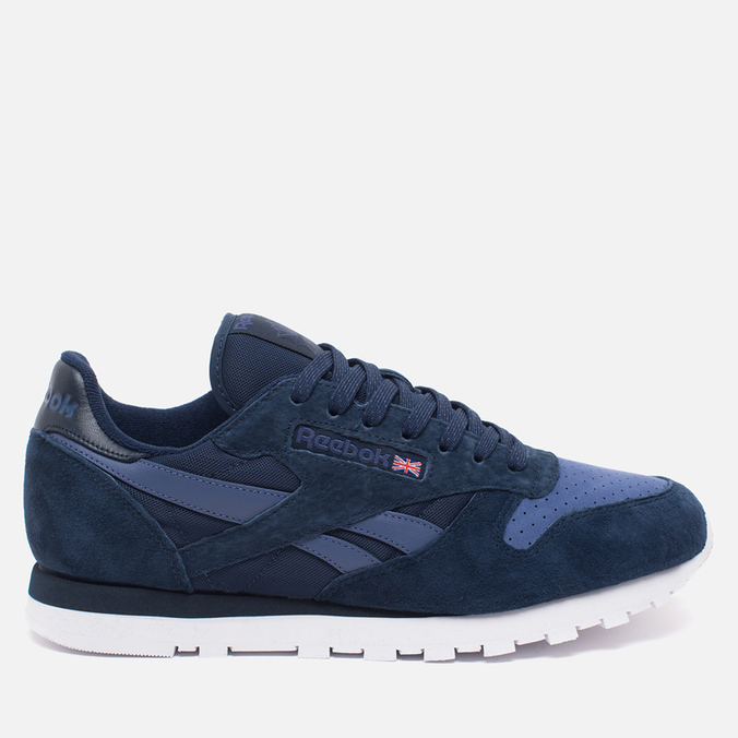 Мужские кроссовки Reebok CL Leather NP Collegiate Navy/Midnight Blue/White