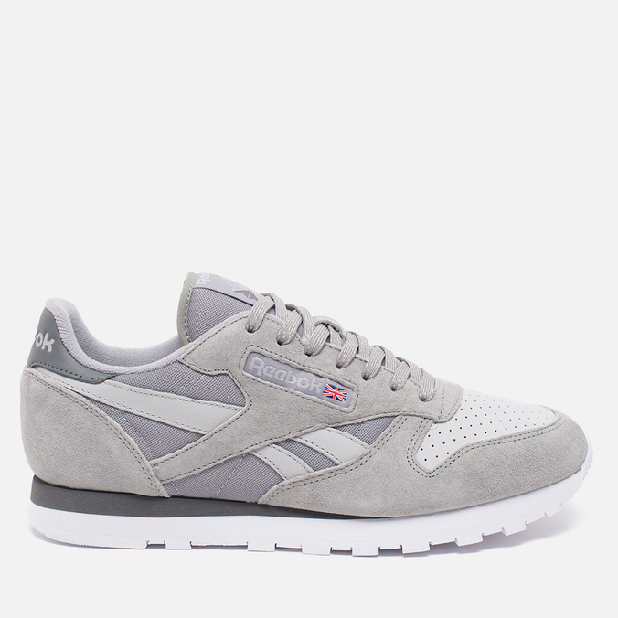 Мужские кроссовки Reebok CL Leather NP Grey/Steel/Shark/White
