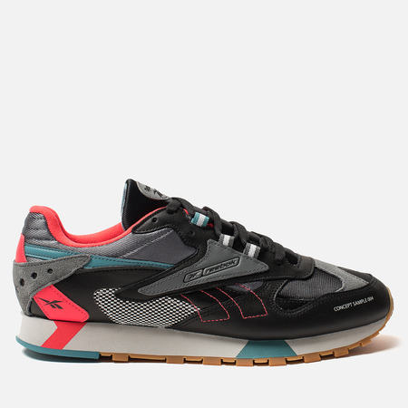 Мужские кроссовки Reebok Classic Leather ATI 90S Black/Alloy/Neon Red/Mist