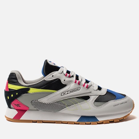 Мужские кроссовки Reebok Classic Leather ATI 90S Skull Grey/Black/Pink