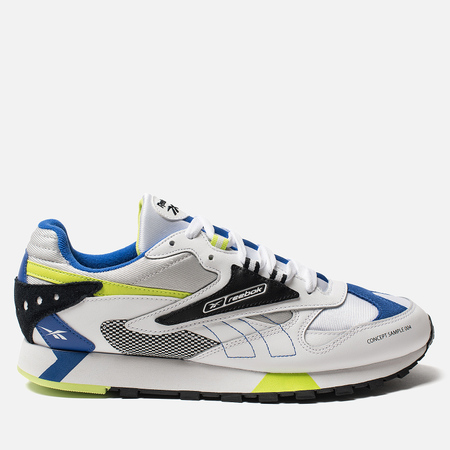Мужские кроссовки Reebok Classic Leather ATI 90s White/Black/Neon Lime/Cobalt