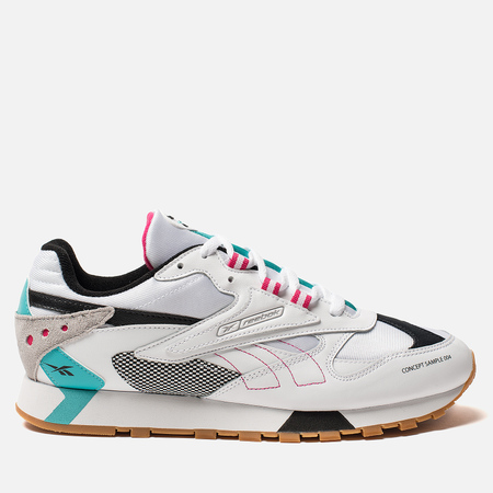 Мужские кроссовки Reebok Classic Leather ATI 90S White Teal Black Grey 0e2d64fa350