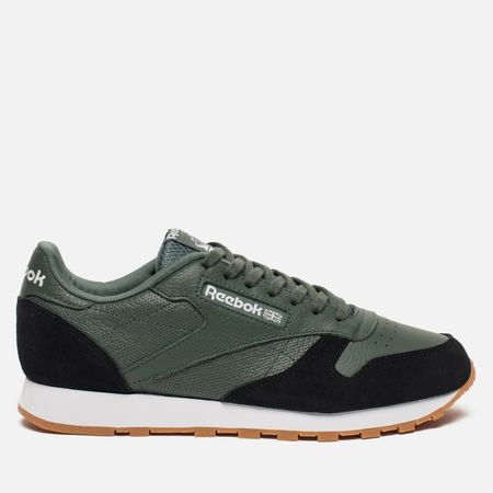 Мужские кроссовки Reebok Classic Leather GI Chalk Green/Black/White/Gum