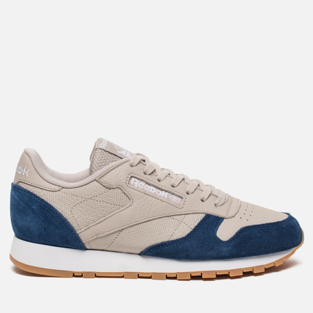Мужские кроссовки Reebok Classic Leather GI Sand Stone/Wawshed Blue/White/Gum