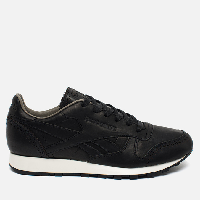 Мужские кроссовки Reebok Classic Leather Lux Horween Black/Coal/Chalk