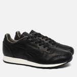Мужские кроссовки Reebok Classic Leather Lux Horween Black/Coal/Chalk фото- 1