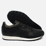 Мужские кроссовки Reebok Classic Leather Lux Horween Black/Coal/Chalk фото- 2