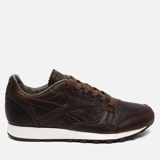 Мужские кроссовки Reebok Classic Leather Lux Horween Just Brown/Golden Brown/Chalk