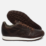 Мужские кроссовки Reebok Classic Leather Lux Horween Just Brown/Golden Brown/Chalk фото- 2