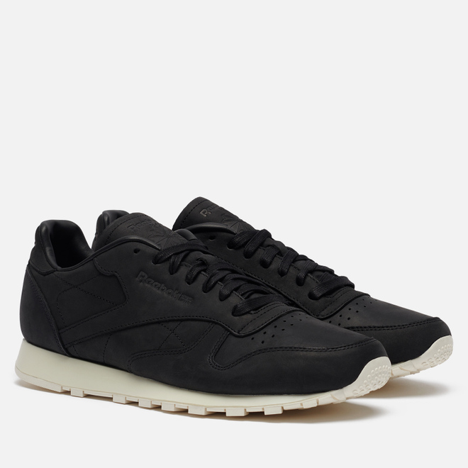 Мужские кроссовки Reebok Classic Leather Lux PW Black/Beige/Chalk/Beach Stone