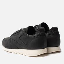 Мужские кроссовки Reebok Classic Leather Lux PW Black/Beige/Chalk/Beach Stone фото- 2