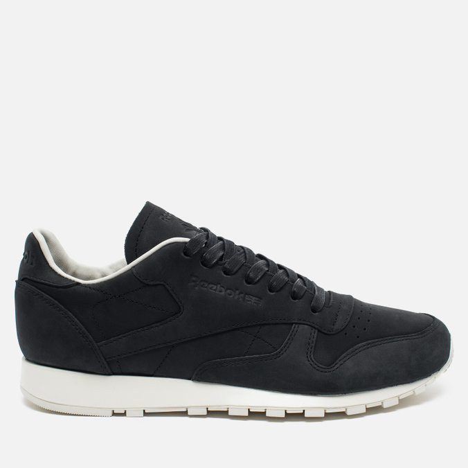 Мужские кроссовки Reebok Classic Leather Lux PW Black Beige Chalk Beach  Stone ... 848f194810f9a