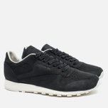 Мужские кроссовки Reebok Classic Leather Lux PW Black/Beige/Chalk/Beach Stone фото- 1