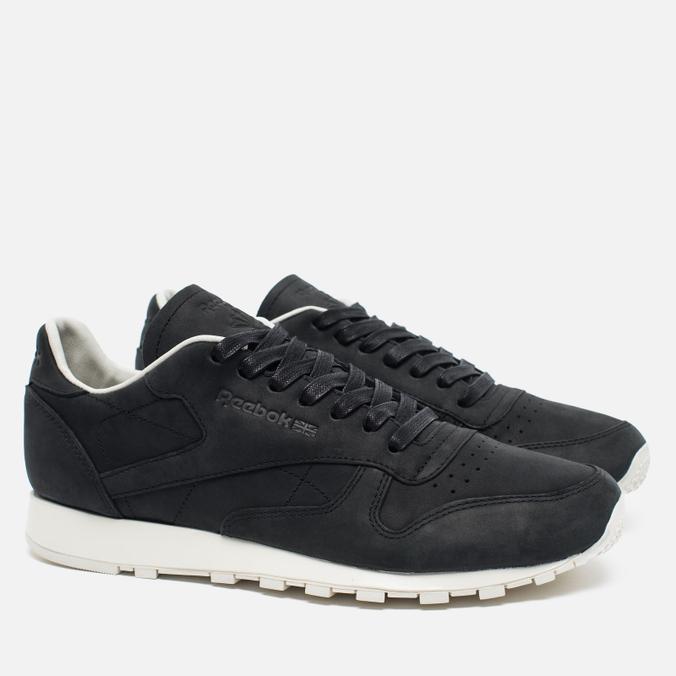 buy popular c52cb 3dc0b reebok classic leather lux pw black beige chalk beach