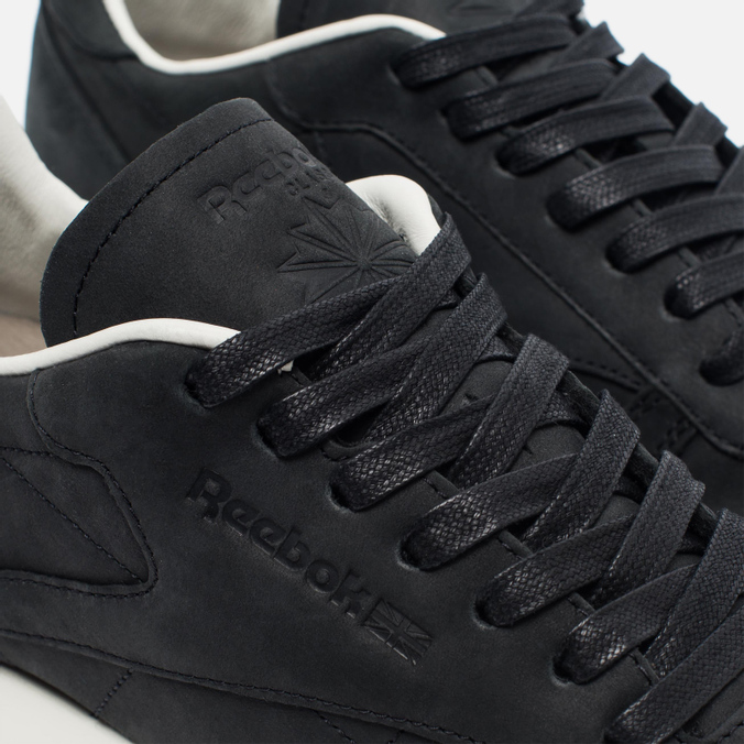 Мужские кроссовки Reebok Classic Leather Lux PW Black Beige Chalk Beach  Stone 25da0c83bc3
