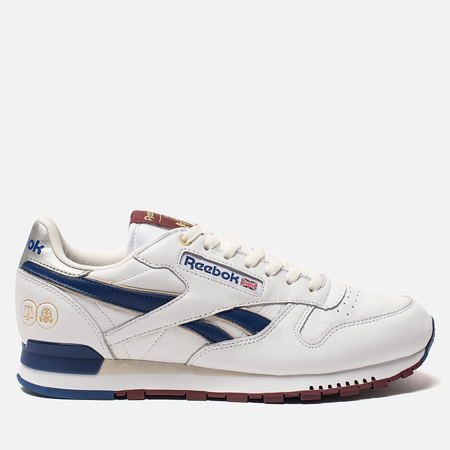 Мужские кроссовки Reebok x Highs & Lows x Footpatrol CL MU White/Cobalt/Merlot