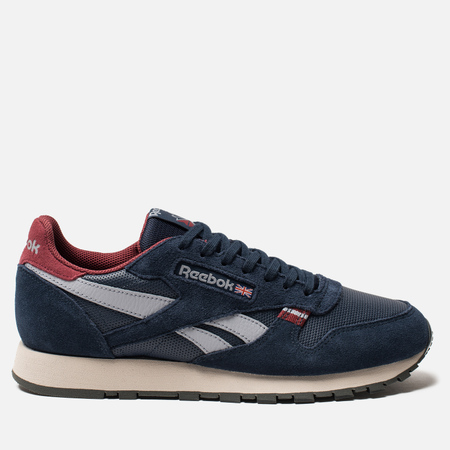 Мужские кроссовки Reebok Classic Leather MU Navy/Red/Stucco/Grey