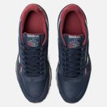 Мужские кроссовки Reebok Classic Leather MU Navy/Red/Stucco/Grey фото- 5