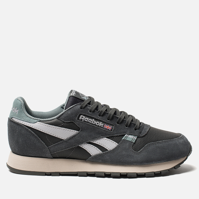 6081aaf09e7 Мужские кроссовки Reebok Classic Leather MU True Grey Teal Fog Cold  Grey Stucco ...