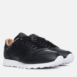 Мужские кроссовки Reebok Classic Leather PN Black/White фото- 1