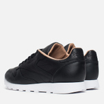 Мужские кроссовки Reebok Classic Leather PN Black/White фото- 2