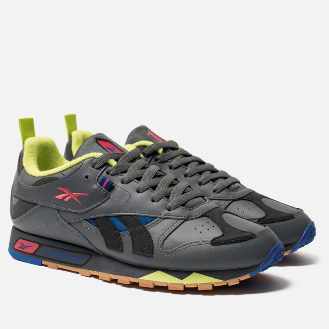 Мужские кроссовки Reebok Classic Leather RC 1.0 True Grey/Black/Hype Pink