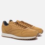 Мужские кроссовки Reebok Classic Leather Ripple WP Golden Wheat/Urban Grey/Chalk фото- 2