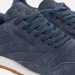 Мужские кроссовки Reebok Classic Leather Seasonal Gum Pack Smoky Indigo/Chalk/Gum фото- 5