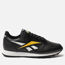Мужские кроссовки Reebok Classic Leather Vector Black/White/Toxic Yellow фото- 3