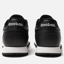 Мужские кроссовки Reebok Classic Leather Vector Black/White/Toxic Yellow фото- 2