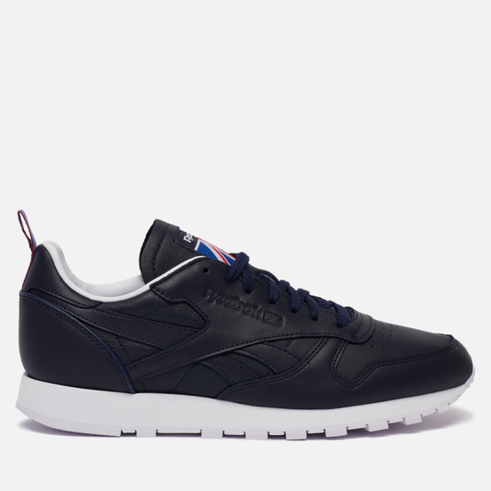 Мужские кроссовки Reebok Classic Leather Vector Navy/White/Vector Red