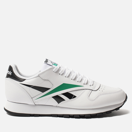 Мужские кроссовки Reebok Classic Leather Vector White/Black/Emerald