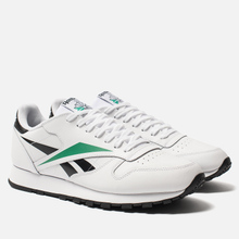 Мужские кроссовки Reebok Classic Leather Vector White/Black/Emerald фото- 0