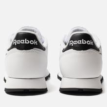 Мужские кроссовки Reebok Classic Leather Vector White/Black/Emerald фото- 2