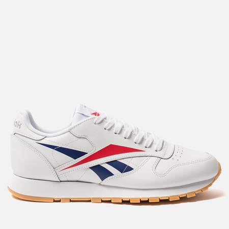 Мужские кроссовки Reebok Classic Leather Vector White/Scarlet/Phantom Blue