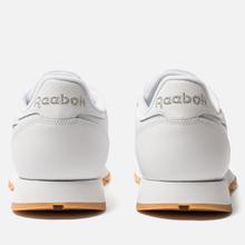 Мужские кроссовки Reebok Classic Leather Vector White/Scarlet/Phantom Blue фото- 3