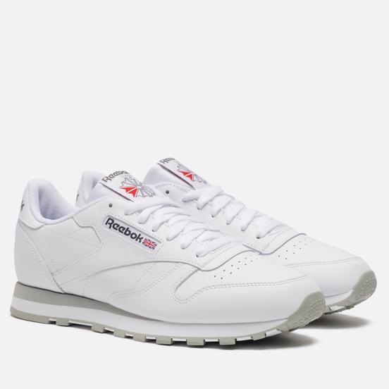 Мужские кроссовки Reebok Classic Leather White/Light Grey