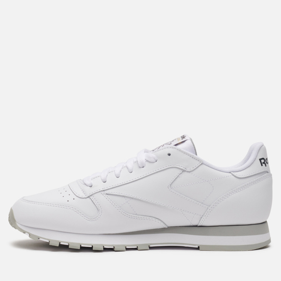Мужские кроссовки Reebok Classic Leather White/Light Grey