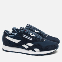 Кроссовки Reebok x Hundreds Classic Nylon Affiliates Navy/White/Riot Red