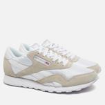 Мужские кроссовки Reebok Classic Nylon White/Light Grey фото- 1