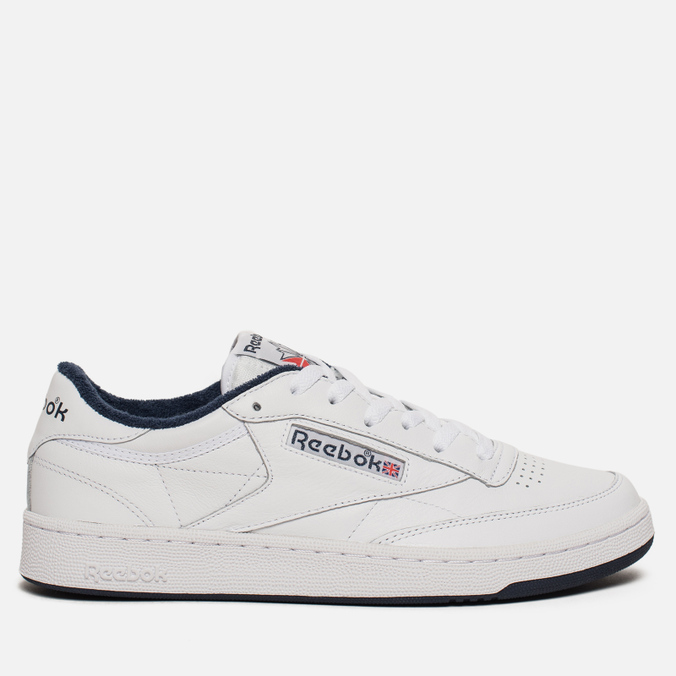 1300d27e98af Мужские кроссовки Reebok Club C 85 Archive White Collegiate Navy CN0646