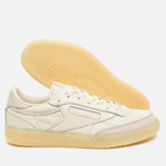 Reebok Club C 85 Butter Soft Pack Olympic Men's Sneakers Creme/Washed Yellow photo- 2