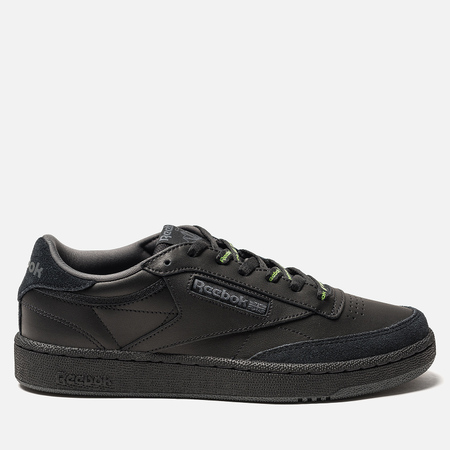 Мужские кроссовки Reebok Club C 85 MU Black/True Grey/Neon Lime