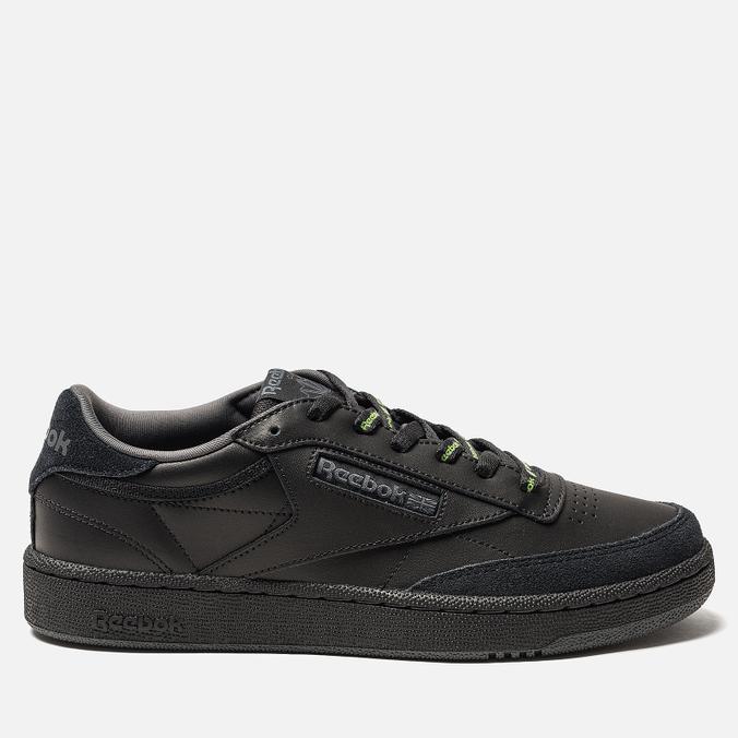 Мужские кроссовки Reebok Club C 85 MU Black/True Grey/Neon Lime