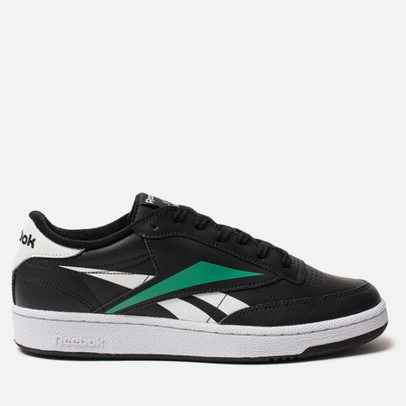 Мужские кроссовки Reebok Club C 85 MU Black/White/Emerald