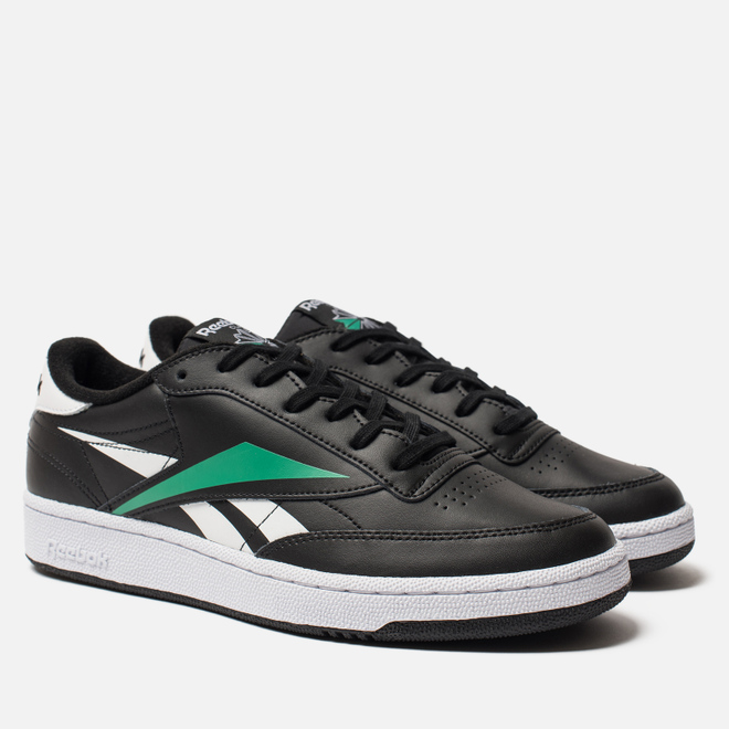 Мужские кроссовки Reebok Club C 85 MU Black/White/Emerald