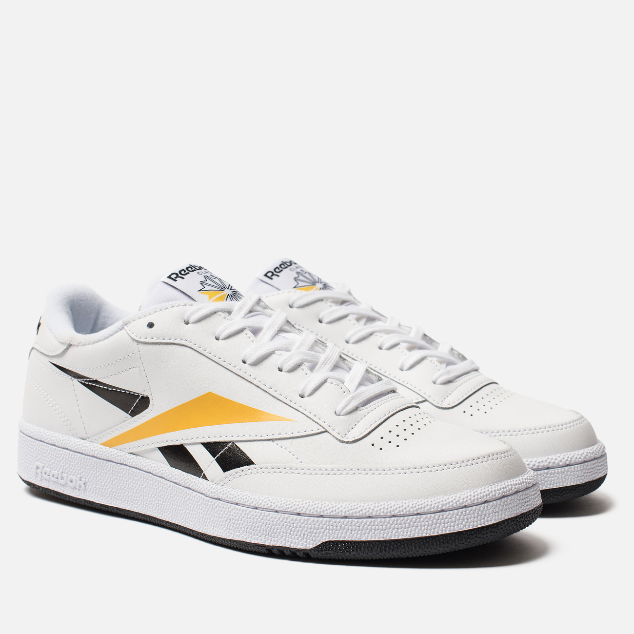 Мужские кроссовки Reebok Club C 85 MU White/Black/Toxic Yellow